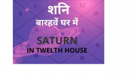 शनि बारहवें घर में (Saturn in Twelfth House)