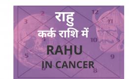 राहु कर्क राशि में (Rahu in Cancer Sign)