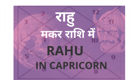 राहु मकर राशि में (Rahu in Capricorn Sign)