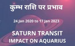 शनि का गोचर- कुम्भ राशि पर प्रभाव(Saturn Transit-Impact on Aquarius Sign)(24 Jan 2020 to 17 Jan 2023)