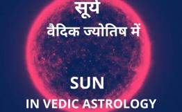 सूर्य वैदिक ज्योतिष में (Sun in Vedic Astrology)