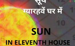 सूर्य ग्यारहवें घर में (Sun in Eleventh House)