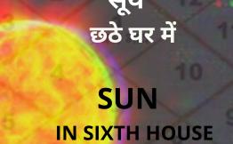 सूर्य छठे घर में (Sun in Sixth House)
