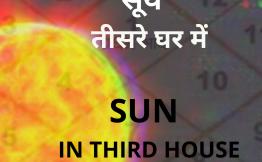 सूर्य तीसरे घर में (Sun in Third House)