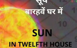 सूर्य बारहवें घर में (Sun in Twelfth House)